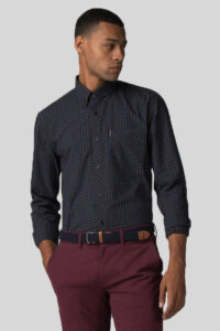 Camisa House Check Rust – Ben Sherman – Navy 1