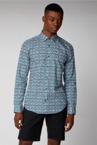 Camisa_Floral Print Retro _Ben Sherman_0059113_azul_a
