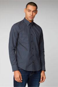 Camisa_LONG SLEEVE PRINTED SHIRT_Ben Sherman_0059101_Navy_a