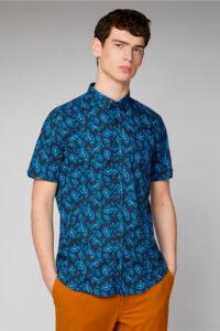 Camisa_Retro Paisley Shirt_Ben Sherman_0059120_Navy_a