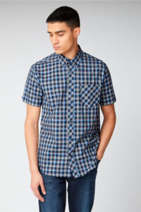 Camisa_SHORT SLEEVE CHECK Ben Sherman_0059086_Navy_a