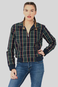 Cazadora Tartan WMN – Harrington FR Navy 1