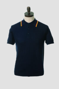 Polo Punto Art Gallery Maurice Navy 01