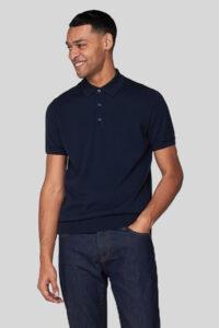 Polo de Punto Knitted – Ben Sherman – Navy 1.